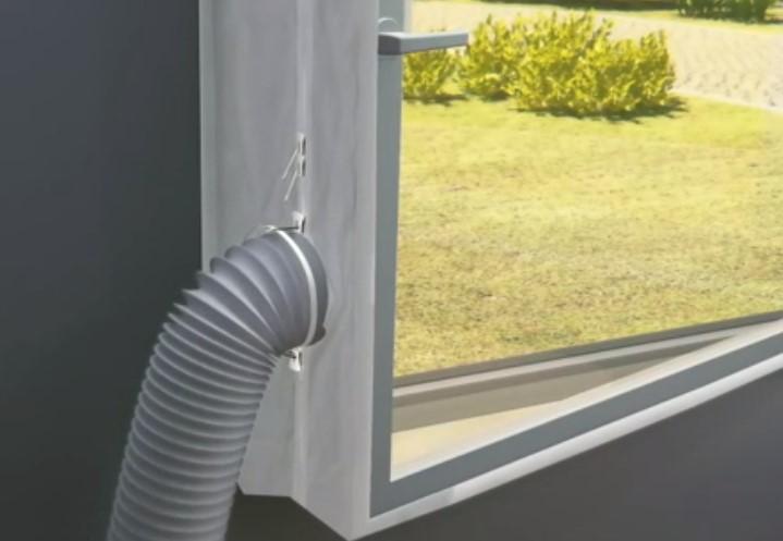 Casement Window air con seal installation