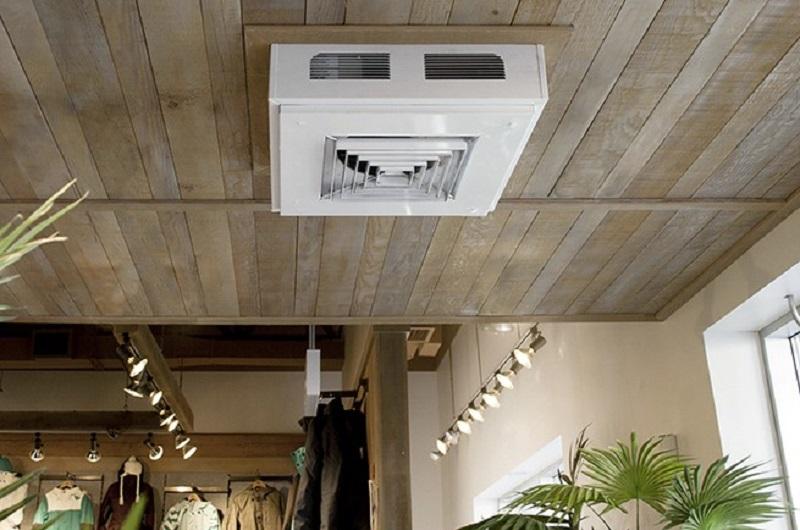 Ceiling-mounted heater fan