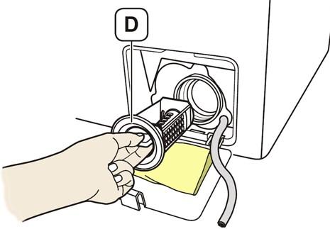 Washing machine debris filter