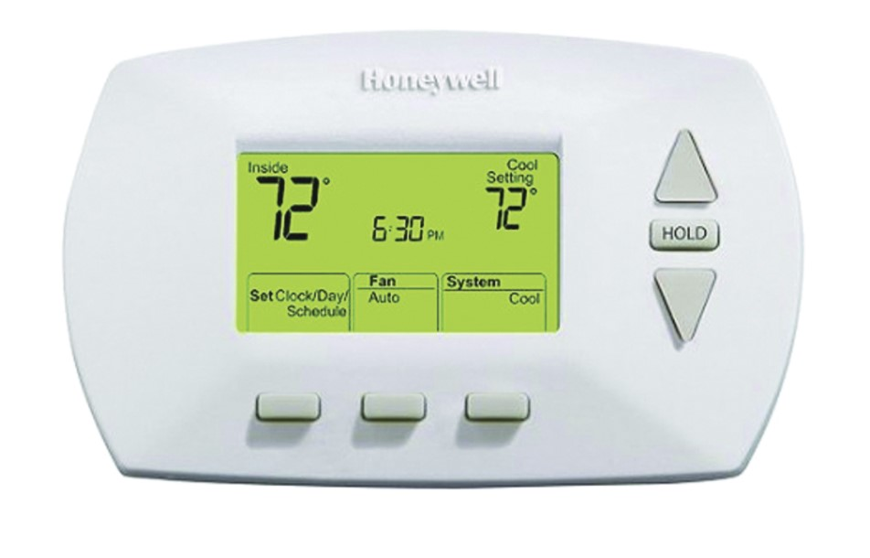 Honeywell thermostat with a hold button