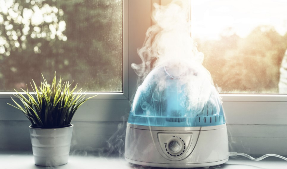 A humidifier producing moisture