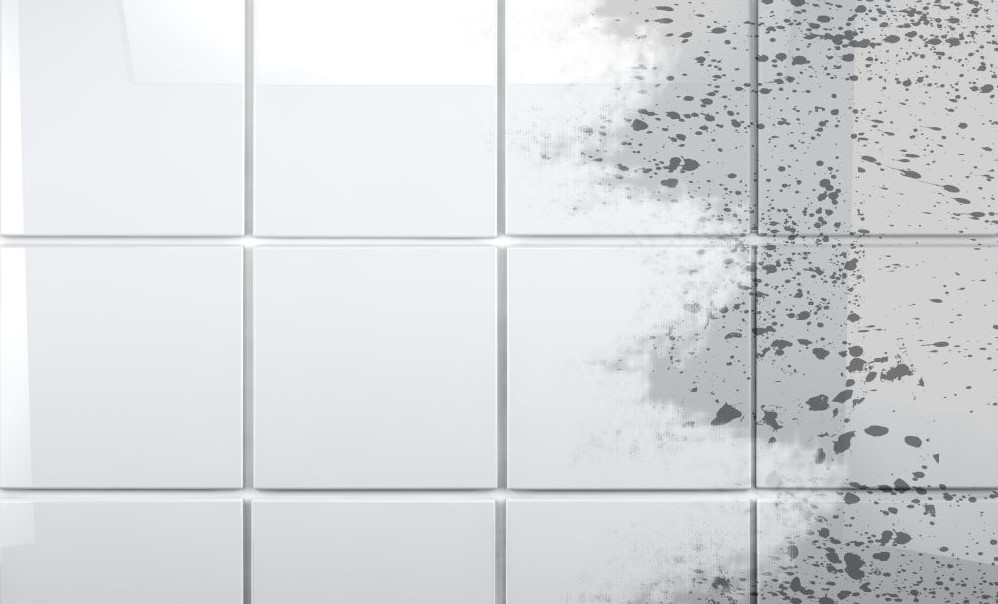 cleaning a bathroom tile